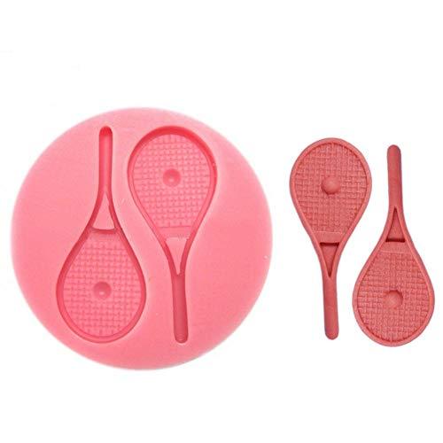 MNBVC DIY Tennisschläger und Bälle Form Runde Silikon Kuchenform Fondant Kuchen Dekorationswerkzeuge Küche Backgeschirr