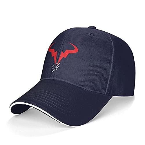 Yearinspace - Berretto da baseball unisex Rafael-Nadal-spagnolo-tennis-giocatore lavabile regolabile camionista cappello papà cappello nero