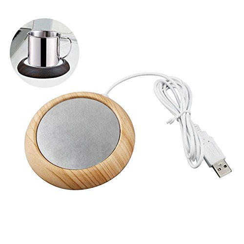 Coffee Mug Warmer, Pawaca Cup Warmer USB Milk Tea Beverage Heating Coaster, Electric Heating Aluminum Plate for Office Home