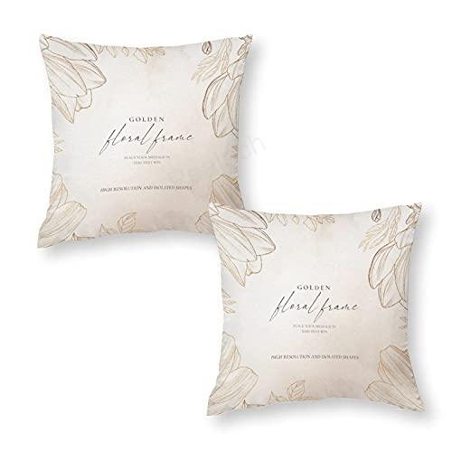 pealrich Juego de 2 fundas de almohada doradas para papá y abuelo de hija, para decoración de bodas, diseño floral, 40,6 x 40,6 cm