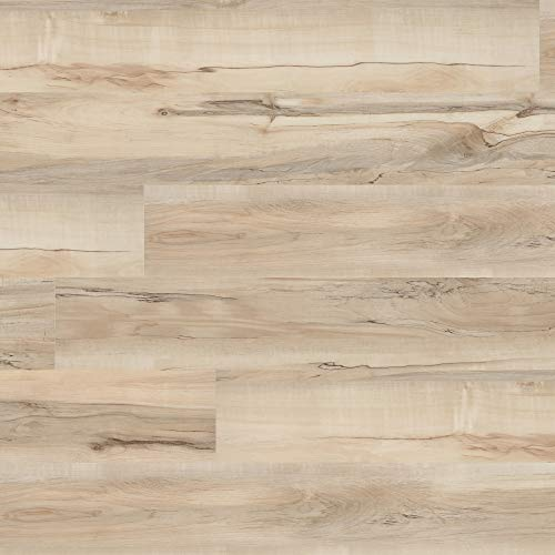 M S International AMZ-LVT-0069 7 inch x 48 inch Luxury Vinyl Planks LVT Tile Click Floating Floor Waterproof Rigid Core Wood Grain Finish McKenna, CASE, Aged Maple Beige, 23 Square Feet