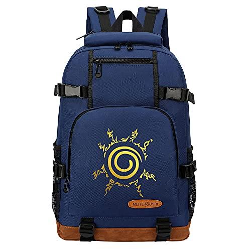 CXWLK Mochila Mujer Casual Escolar De Moda para Portatil Backpack Mochilas Impermeable para Trabajo Bag Mochila De Gran Capacidad,Naruto,Blue,46cmX29cmX13cm
