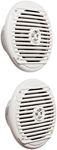"""Jensen MS6007WR 6.5"""" Coaxial Marine Speakers, 60 Watts, White, Sold as Pair"""