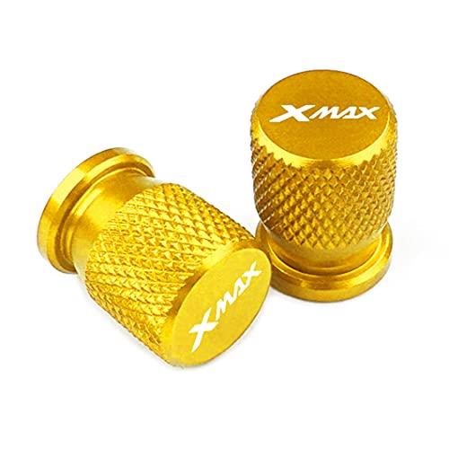 2 Piezas VáLvula de NeumáTico de AleacióN de Aluminio, para YAMAHA XMAX X-MAX 125 250 300 400 TMAX 500 560 530 SX/DX all year, Tapas para VáLvulas de Polvo Universal de Sistema Antirrobo