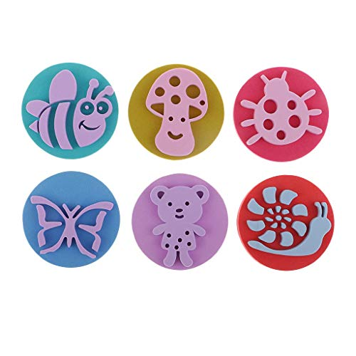 6pcs Animal Foam Paint Stamps for Toddlers Learning Toys, Card Making, Kids Painting, Drawing Crafts