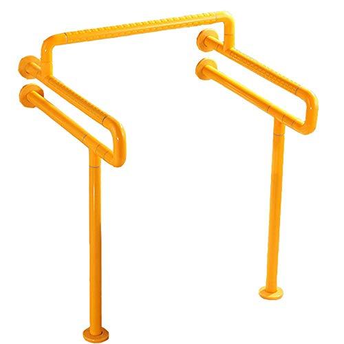 LYHY Handlauf Bad Sicherheit Barrierefreier Handlauf Alter Mann Schwangere Behinderte Kraftständer Toilettenhandlauf (Farbe: Gelb)