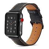Tasikar Lederarmband Kompatibel mit Apple Watch Armband 42mm 44mm Premium Echte Leder Ersatzarmband...