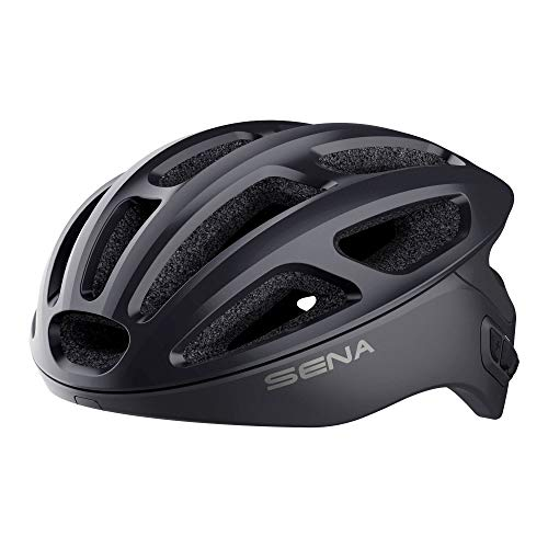 Sena R1 Smart Casco da Ciclismo (Matte Black, Taglie M)