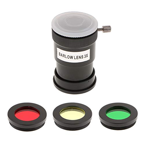 balikha Kit de Filtro de Color de Filtro de de Lente Barlow de 1,25'para Oculares de Telescopio