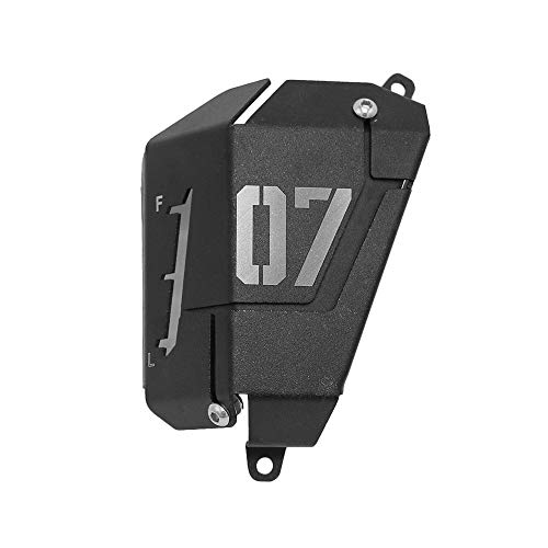 Coolant Reservoir Cover,KKmoon MT07 FZ07 Coolant Recovery Tank Shielding Cover for Yamaha MT-07 FZ-07 2014-2019 (Black)