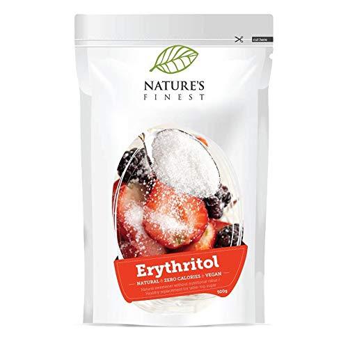 Nature's Finest Eritritolo Bio 500 g | Dolcificante Naturale e Biologico con Zero Calorie | Ideale per Vegani e Vegetariani