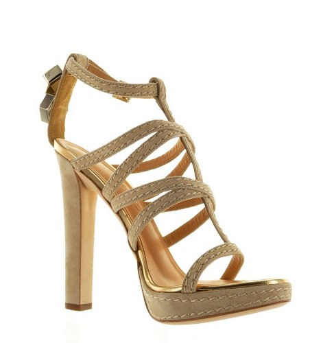 Dsquared Beige Real Leather Shoes, 40, Beige