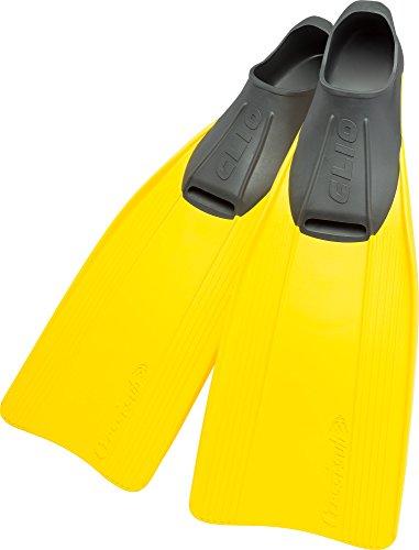 Cressi Clio - Aletas, color amarillo, talla 45-46