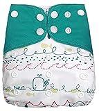 SaySure 1 pañal de tela ajustable para pañales de bebé, pañales de tela para recién nacidos, pantalones de entrenamiento de 3 a 15 kg