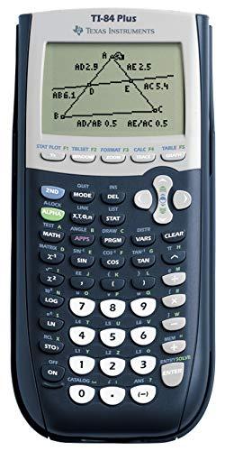 Texas Instruments TI-84 Plus Grafikrechner (8-zeilige Anzeige, Speicher, 2D-Ansichten) Nachtblau