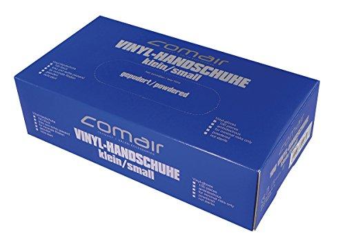 Comair 3012333 Vinyl Handschuhe gepudert, klein, 100 stück Box