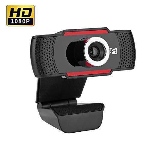 Docooler Webcam 1080P HD Cámara Web HXSJ Computadora Cámara portátil para videoconferencia de Conferencia Transmisión