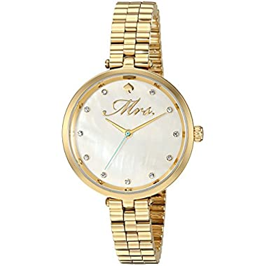 Kate Spade New York Women's 'Holland' Quartz Stainless Steel Casual Watch, Color Gold-Toned (Model: KSW1351)