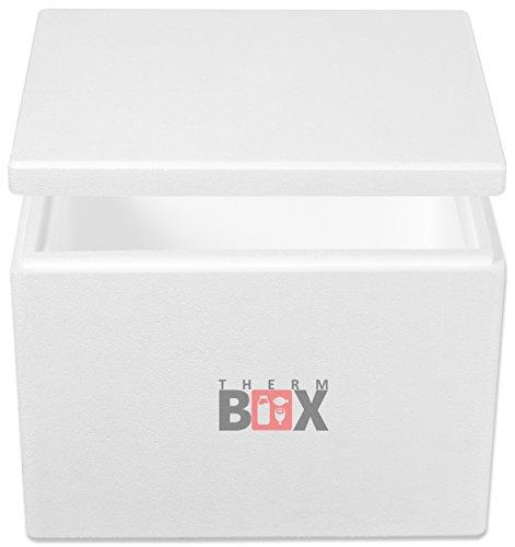 THERM-BOX Glacière Chaud/Froid 19,4L | 40x30x30cm Isolation Totale Frigobox Effrayant - pour l'alimentation Boîte chauffante