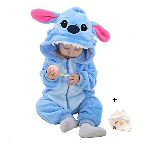 Bebé Ropa Disfraces Franela Traje Animales Pelele Unisexo Disfraz Invierno Kigurumi
