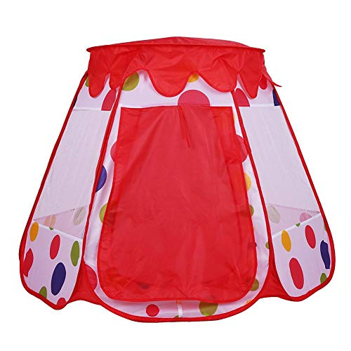 Kids Play Tent, opvouwbare Indoor Outdoor Camping Tent Child Playhouse Toy voor jongens en meisjes Verjaardagscadeau 43.3 x 43.3 x 35.4inch(Rood)