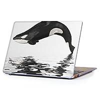 "igcase MacBook Air 13inch 2010年~2017年 モデル / A1466 A1369 専用ハードケース マックブック エア Mac 13"" インチ 専用 ケース カバー クリア アクセサリー 保護 (2018年モデル 非対応) 015849 海 シャチ 黒"