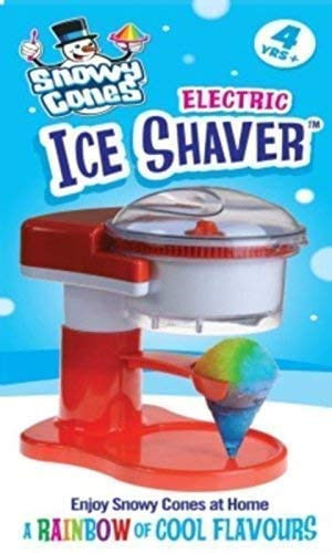 Home Snowycones Snow Cone Maker Kit Includes 3 Free Flavours, Straw Spoons...