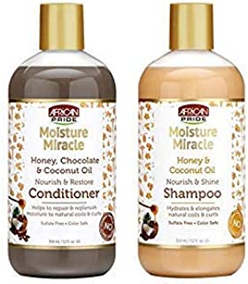 (SHAMPOO&CONDITIONER) - AFRICAN PRIDE MOISTURE MIRACLE HONEY & COCONUT OIL SET (SHAMPOO & CONDITIONER)