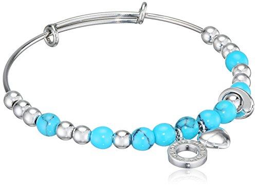 Emozioni by Hot Armband mit künstlichen Diamanten und Türkisen