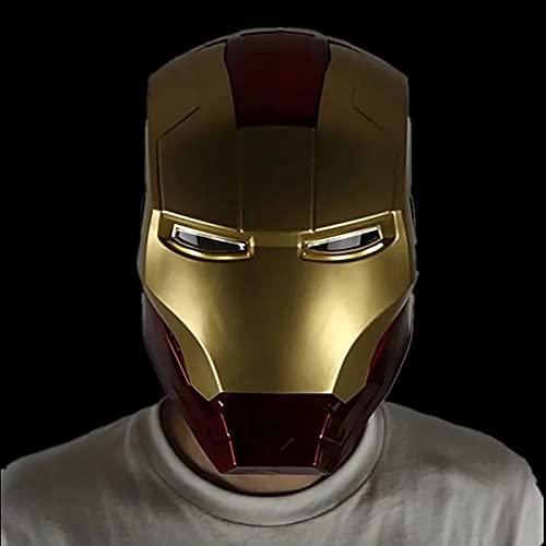 PRETAY Avengers Marvel-Casco Iron Man,Ojos Pueden Brillar,Película de Halloween Cosplay Accesorios de Disfraces,Regalo de Juguete,Vengadores de Marvel Legends (Color : Red, Size : L(55CM))