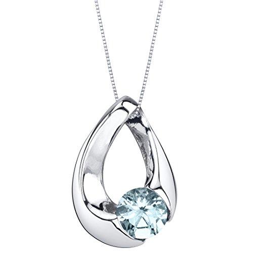 Aquamarine Slider Pendant by Peora