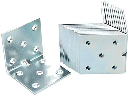 KOTARBAU Winkelverbinder 50 x 50 x 50 mm Sicke Stahl Bauwinkel Montagelöcher Möbelwinkel Verzinkt Schwerlast Holzverbinder Montagewinkel Stuhlwinkel (25)