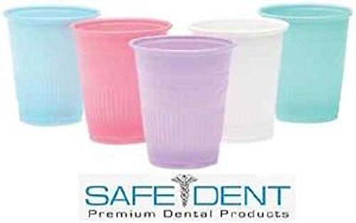 Blue Safe-dent Dental Medical Disposable Drinking Patient Plastic 5 Oz Cups 1000 / Case