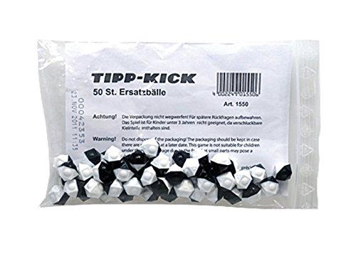 Tipp Kick 015506 - Ersatzbälle 50er, 12 eckig, schwarz - weiß