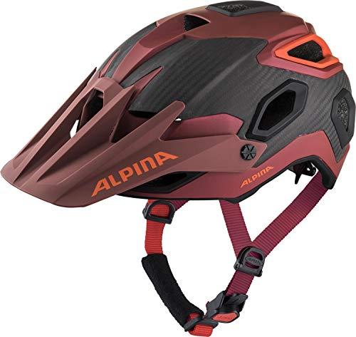 ALPINA ROOTAGE Casco de Bicicleta, Unisex-Adult, Indigo-Cherry Drop, 57-62