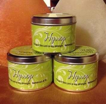 1 X Scented Candle - Hyssop (Scripture Tin 6 Oz.)