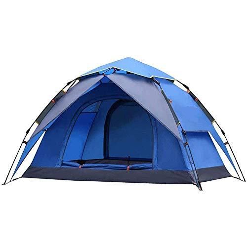 NLRHH Pop Up Beach Tent, Tiendas de Camping automáticas Impermeable Double Puerta y Capa Picic Picnic Picnic Large Family Tienda Portátil Peng