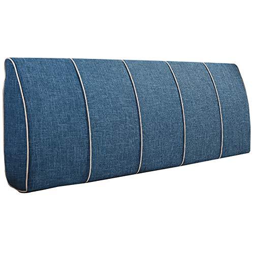 GUOWEI große Rückenlehne Kissen Bettseite Kissen Polsterkopfteil Kopfkissen Rückenlehne Taille Unterstützung Weich Fall, 8 Farben, 5 Größen Nachttisch (Farbe : Blau, größe : NO headboard-135cm)