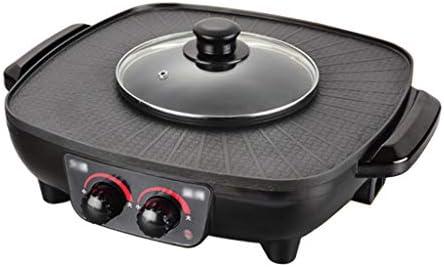 no brand Hot Pot201;lectrique BBQ Hot Pot201;lectrique Multifonctionnel Shabu Grill BBQ 1350W 2 en 1 Hot Pot201;lectriquePo 234;le201;lectrique Il y a 2 Types224; Choisir