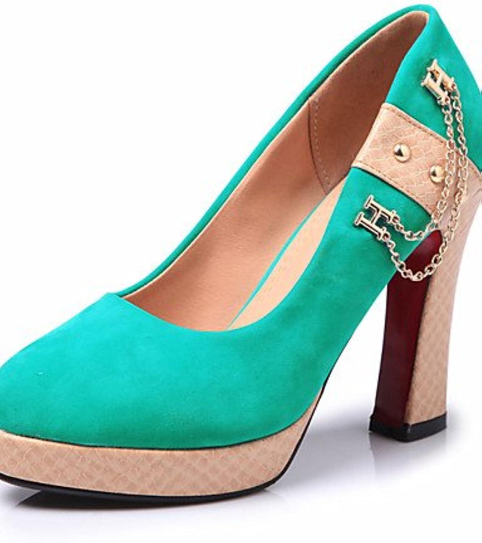 BGYHU GGX Damen Schuhe Sommer Herbst Heels Plattform Heels Outdoor Outdoor Outdoor Office & Karriere Casual Stiletto-Absatz chainschwarz T556  53936c