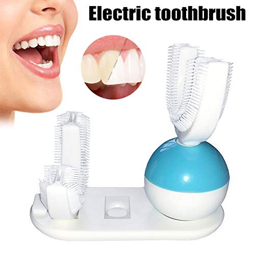 Wildlead automatique Ensemble de brosse à dents électrique rechargeable USB sans fil mains libres blanchissant Brosse à dents