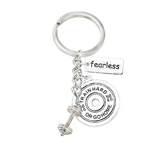Fearless Key Prothain, Gewichtsplatte & Kurzhantel Key сhain, Motivation, Fitness, Sport Schlüsselanhänger