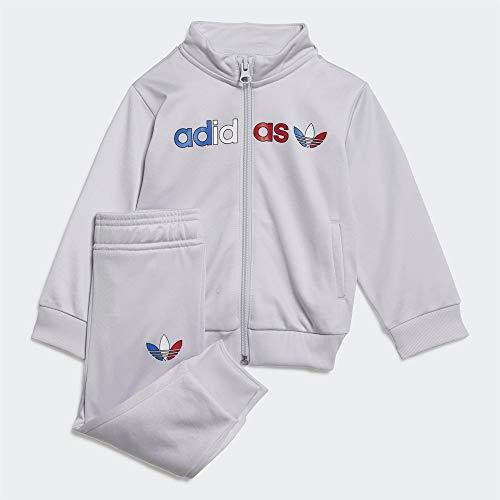 adidas GN7421 Tracksuit Tracksuit Unisex-Child Top:Dash Grey Bottom:Dash Grey s20 6-9M