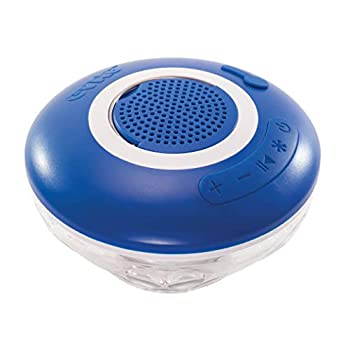 GAME Wireless Speaker and Underwater Light Show Pool light 4308 Battery-Powered Speaker Color LEDs Sync with Music Lasts Up to 6 Hours 1.4 Pounds Blue