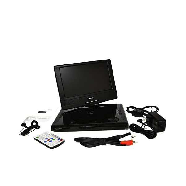 Portable All Multi Region Free Zone DVD Player - 4 Hour Battery, USB Input, Car Charger - USB Input Divx Playback 5