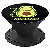 Avocado Katze Avocato - PopSockets Ausziehbarer Sockel und Griff für Smartphones und Tablets