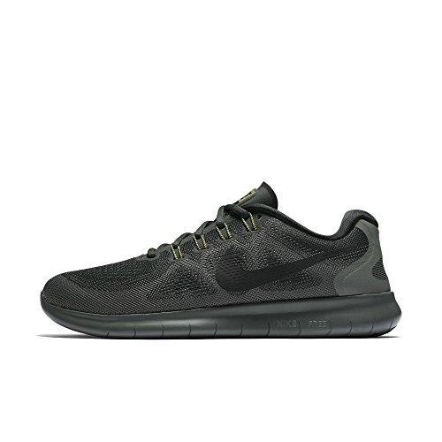 Nike Free Rn 2017, Men's Running Shoes, Grey (Outdoor Green/River Rock/Black/Black), 7 UK (41 EU)