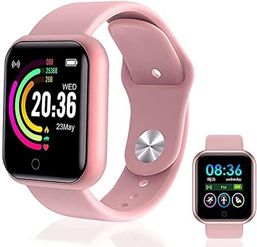 Smartwatch,  Reloj Inteligente Impermeable IP65,  Pulsera de Actividad Inteligente con Monitor de Sueño Contador de Caloría Pulsómetros Podómetro,  para Hombres Mujeres Niños Compatible iPhone Android
