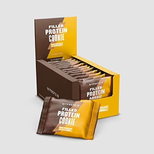 MyProtein Biscotto Ripieno di Proteine Doppio Cioccolato e Caramello 75g (Scatola da 12) - 900 g