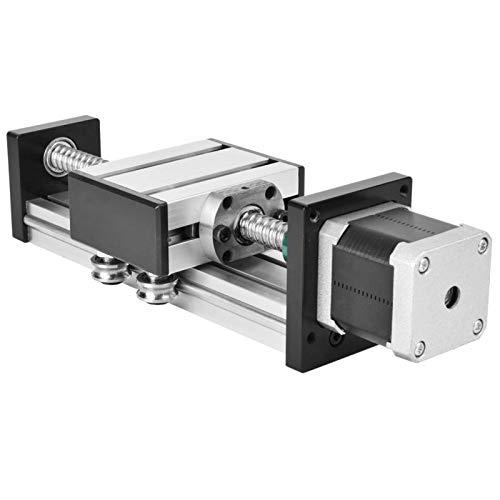 Ball Screw Guide Rail Slide Table 300mm Stroke High Precision Single Shaft for CNC Machine for 3D Printer(Screw 1610 effective range 300mm)